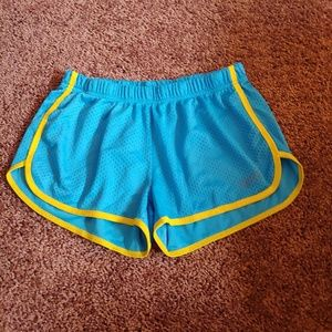 Soffe blue&yellow athletic mini shorts